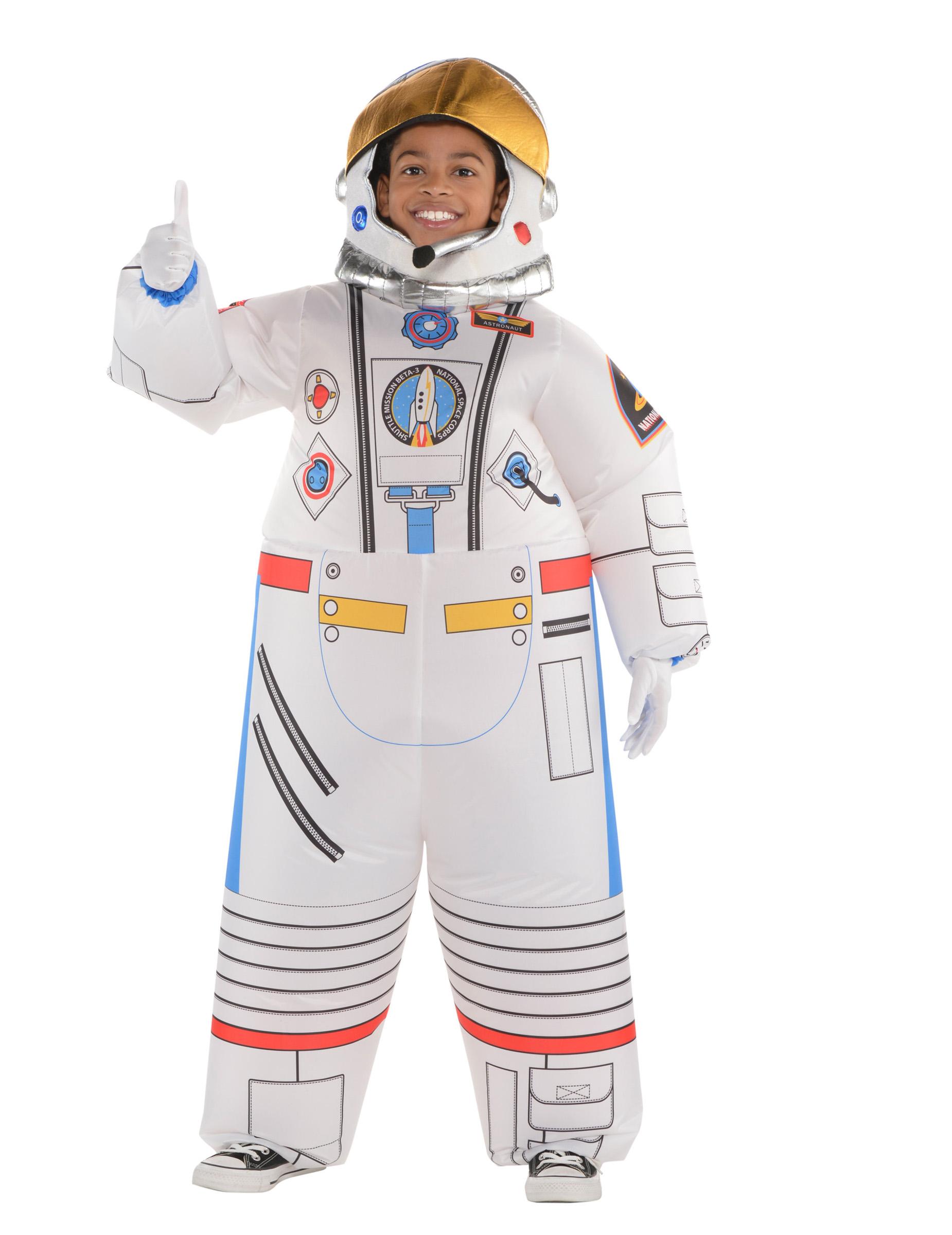 astronauten kost m f r kinder aufblasbar fasching weiss. Black Bedroom Furniture Sets. Home Design Ideas