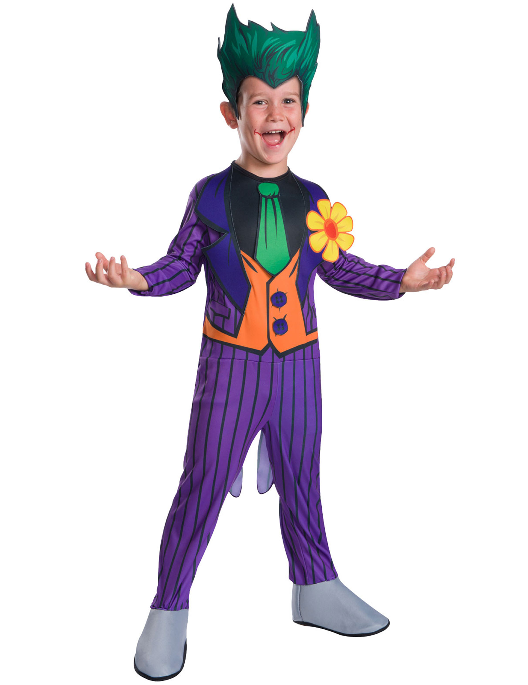 Joker Deluxeverkleidung Fur Kinder Fasching Violett Grun Gunstige