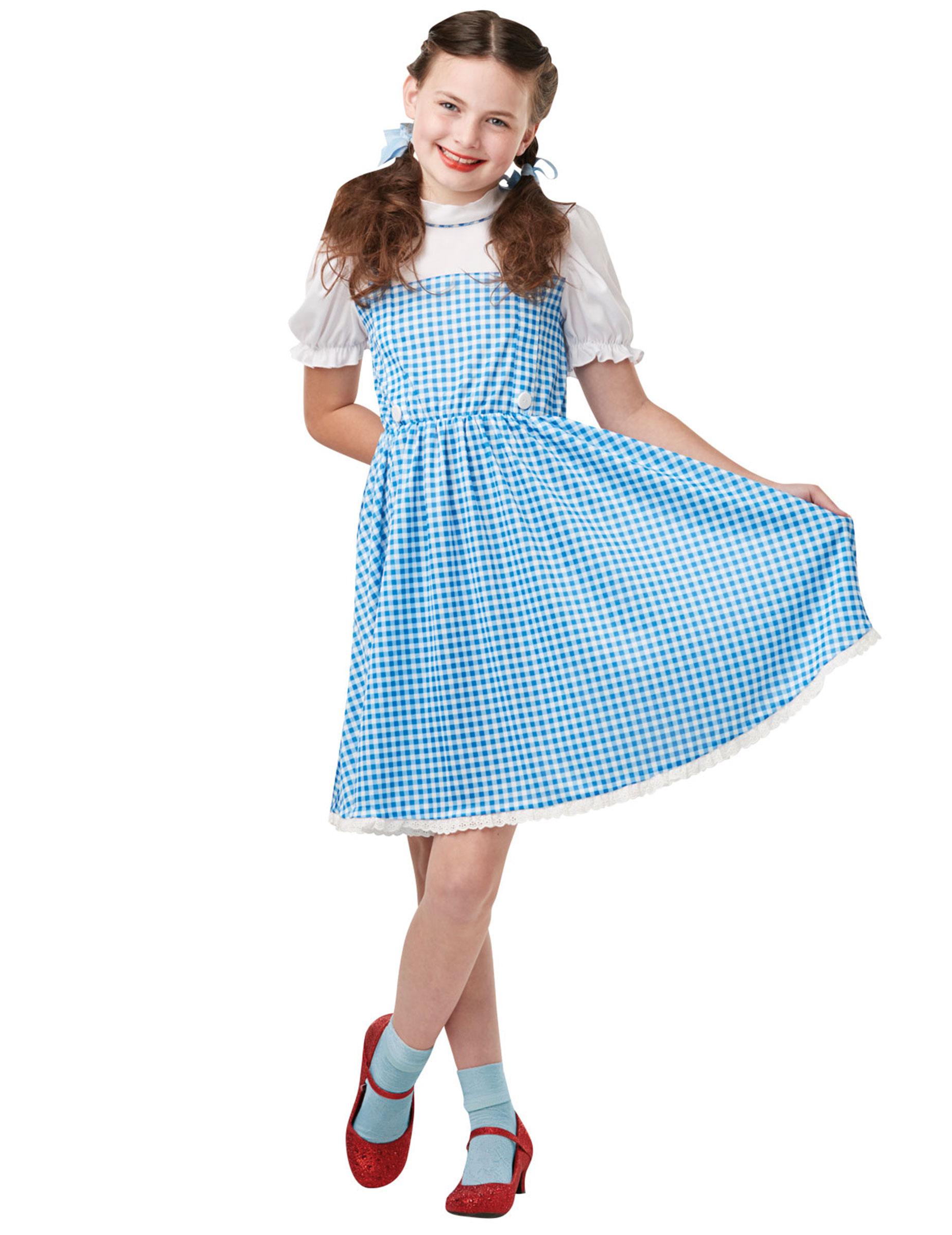 Dorothy Kinderkostum Der Zauberer Von Oz Fasching Blau Weiss