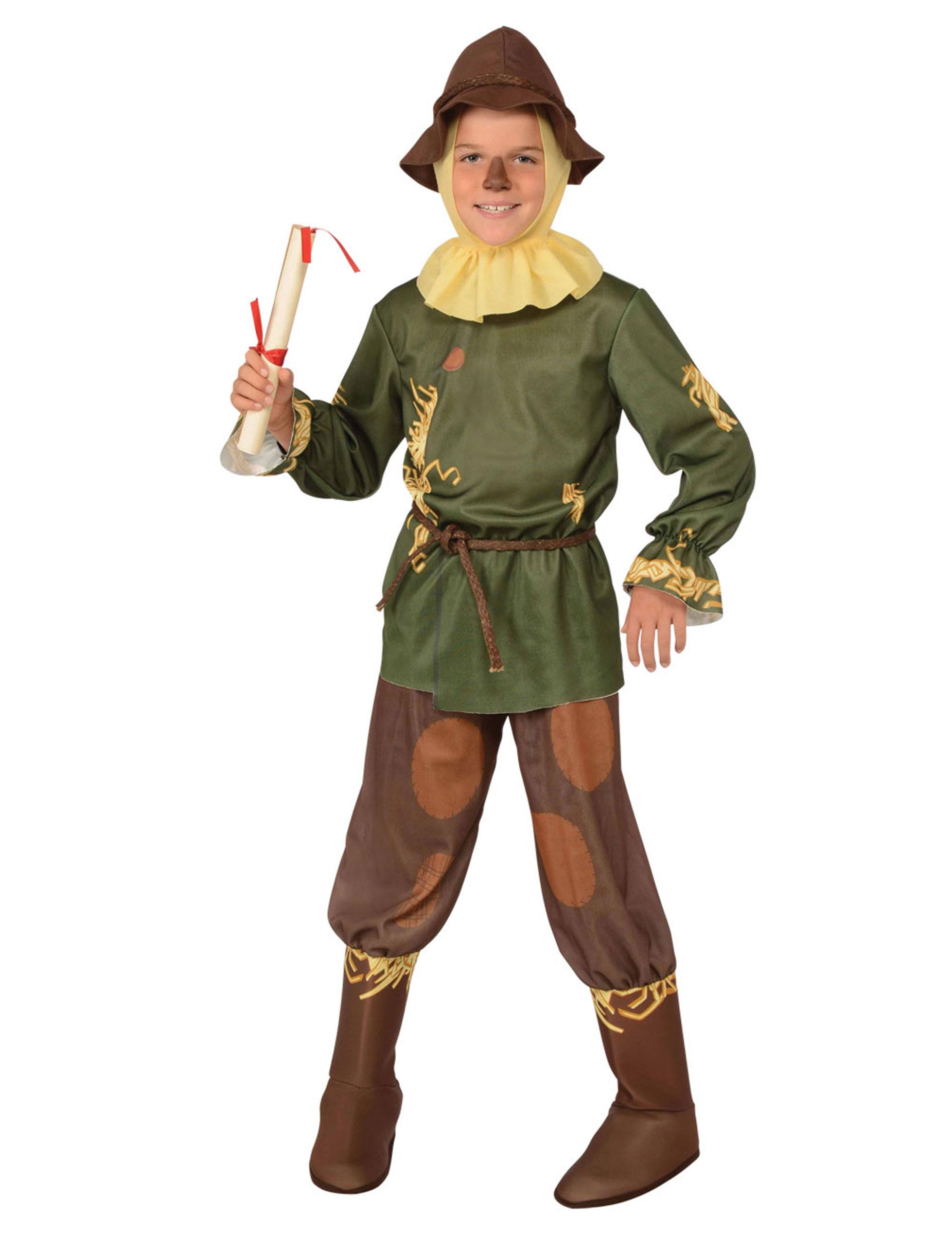Vogelscheuche Kostum Fur Kinder Der Zauberer Von Oz Fasching Braun