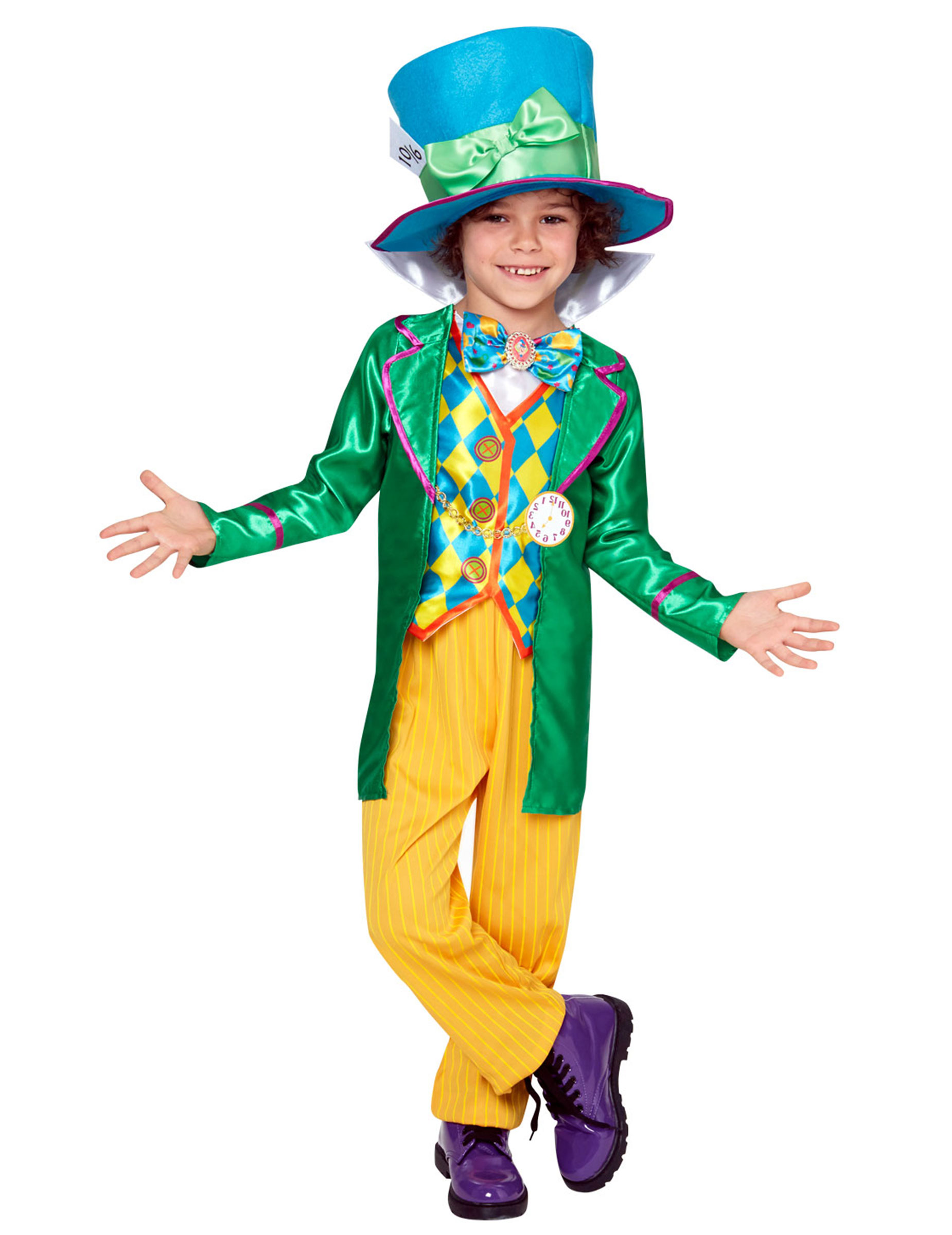 Verruckter Hutmacher Kostum Disney Lizenzkostum Fur Jungen Bunt