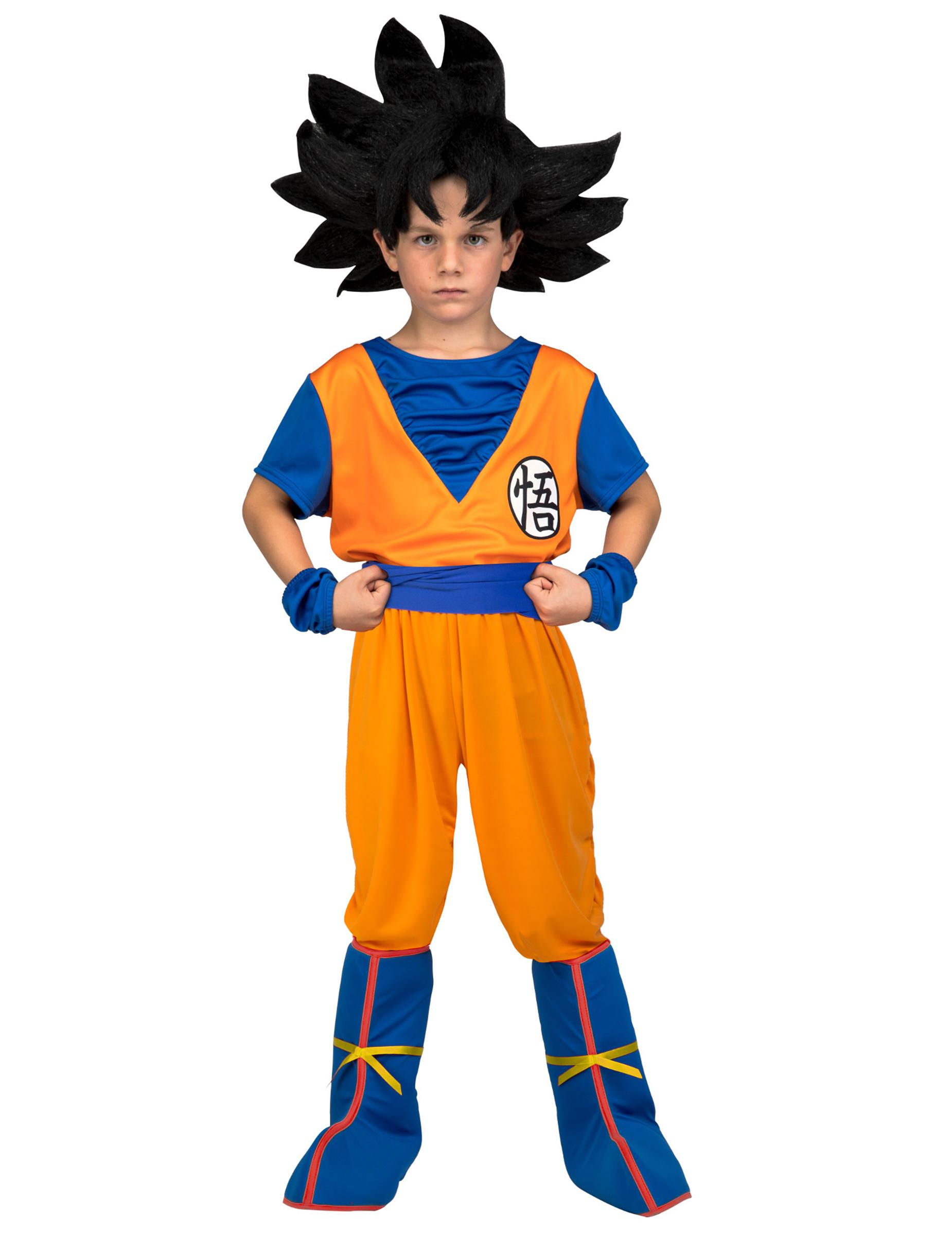4b9c1e3066045 Son Goku™-Kostüm für Kinder Dragon Ball™ im Geschenkkoffer orange-blau