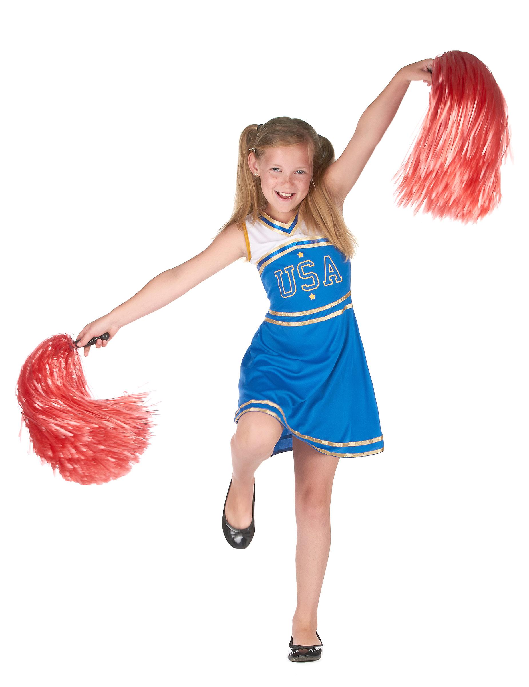 cheerleader kinderkost m karnevalskost m blau weiss g nstige faschings kost me bei karneval. Black Bedroom Furniture Sets. Home Design Ideas