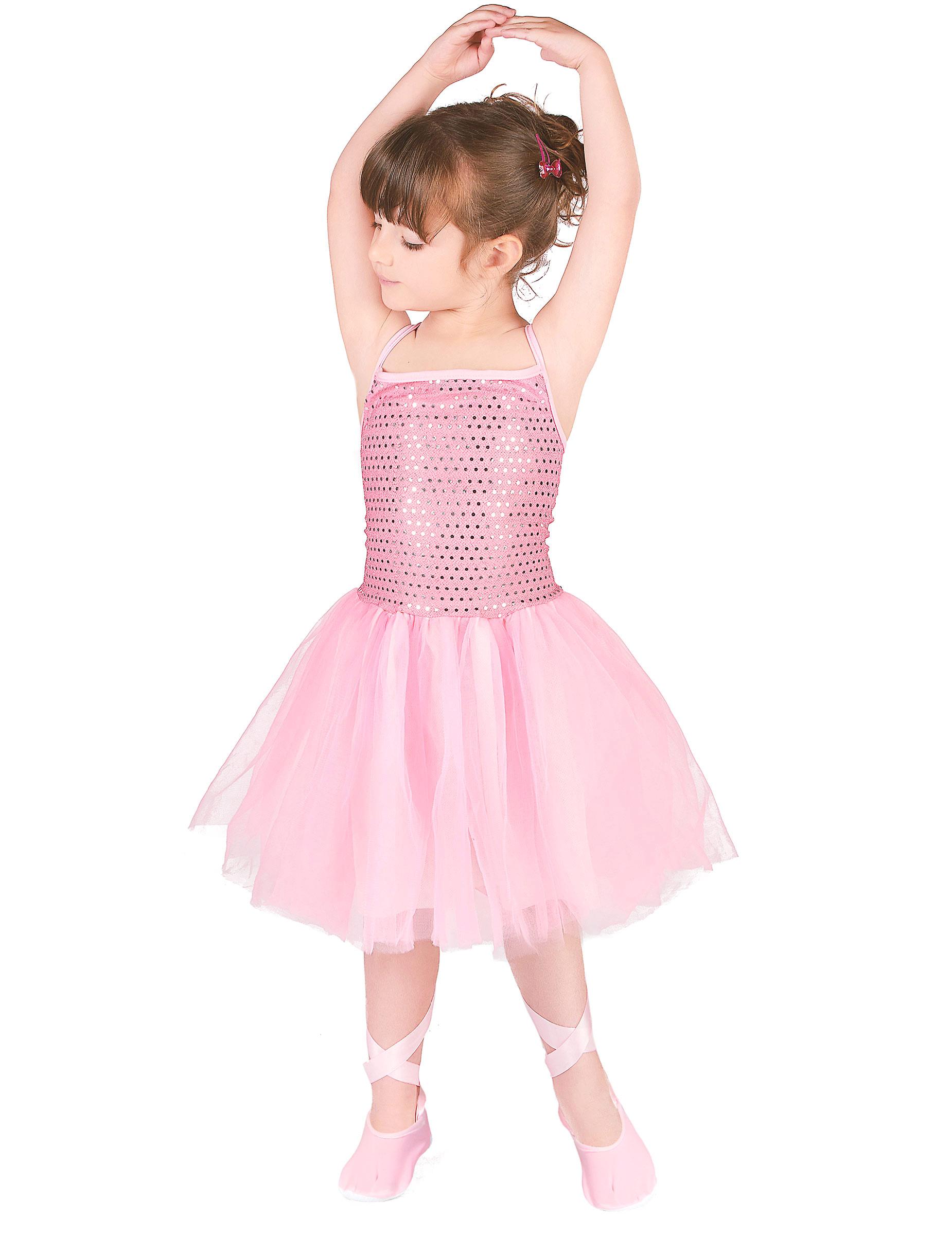 ballerina kost m f r kinder mit pailletten t nzerin rosa g nstige faschings kost me bei