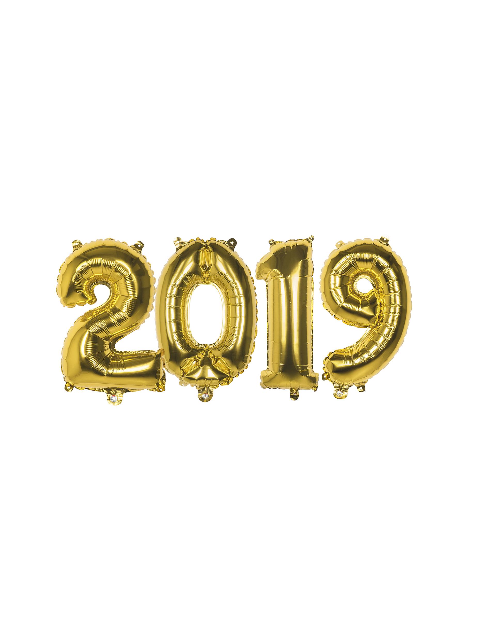 silvester aluminiumballons 2019 party deko 4 st ck gold 36cm g nstige faschings partydeko. Black Bedroom Furniture Sets. Home Design Ideas