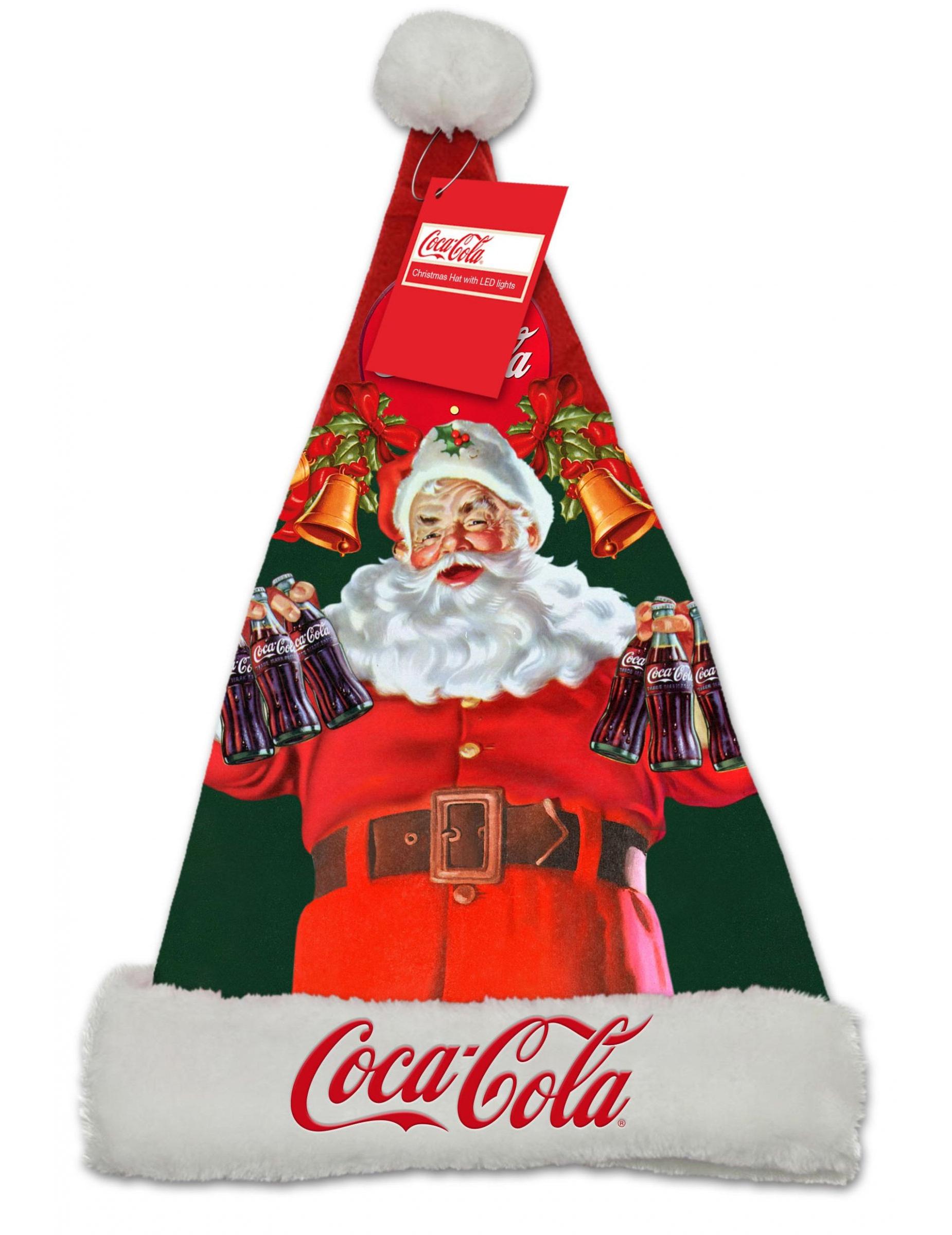 leuchtende weihnachtsmann m tze coca cola bunt g nstige. Black Bedroom Furniture Sets. Home Design Ideas