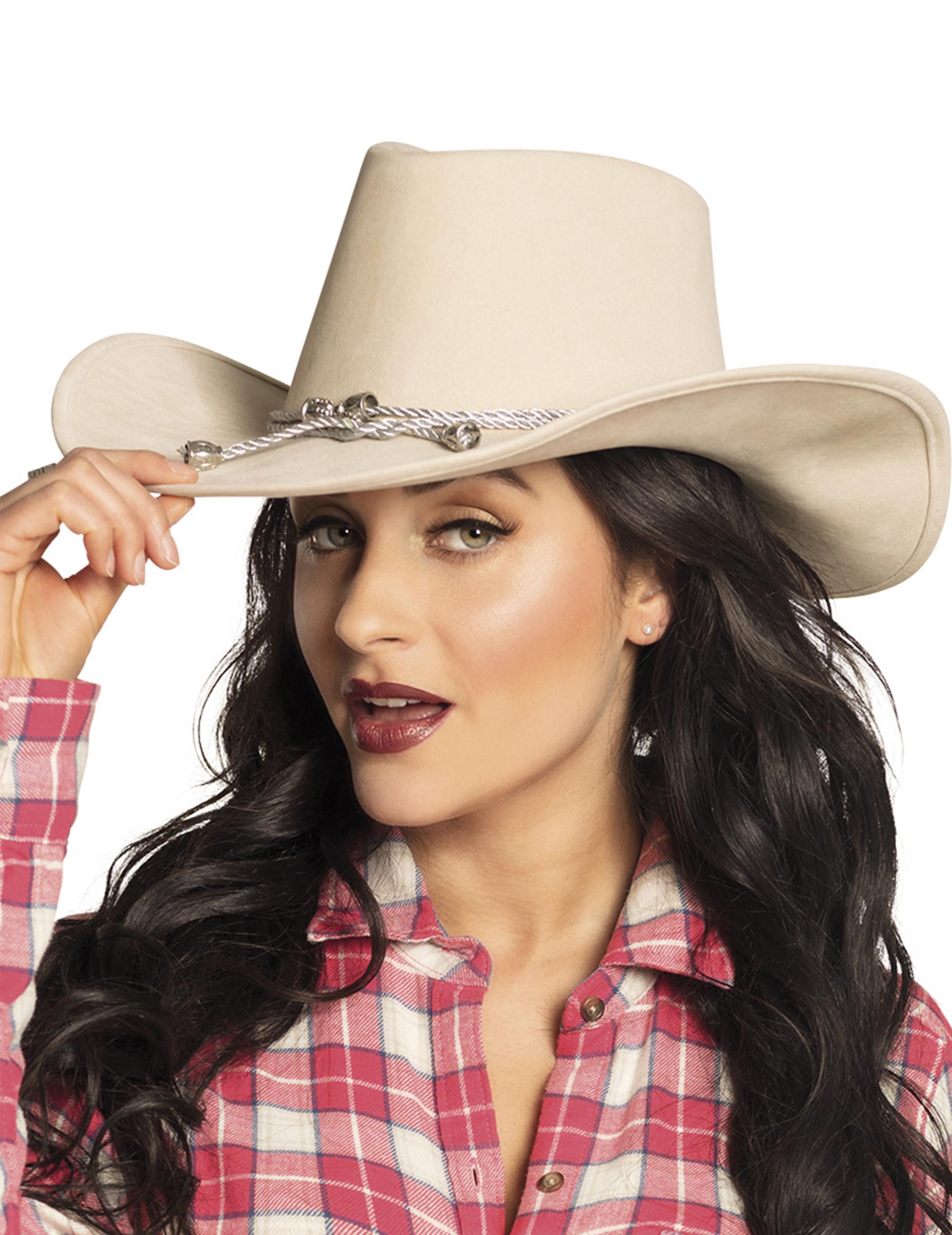 liqun Frauen Damen Wolle Breite Krempe Western Cowboy Hut Cowgirl Reiten Kost/üm Cap Quaste Hutband Gr/ö/ße 56-58Cm Bbd