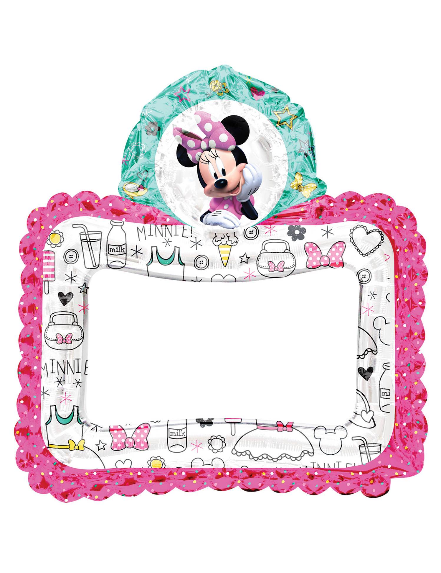 Minnie Maus™-Ballon Bilderrahmen-Ballon Deko bunt 66x68cm