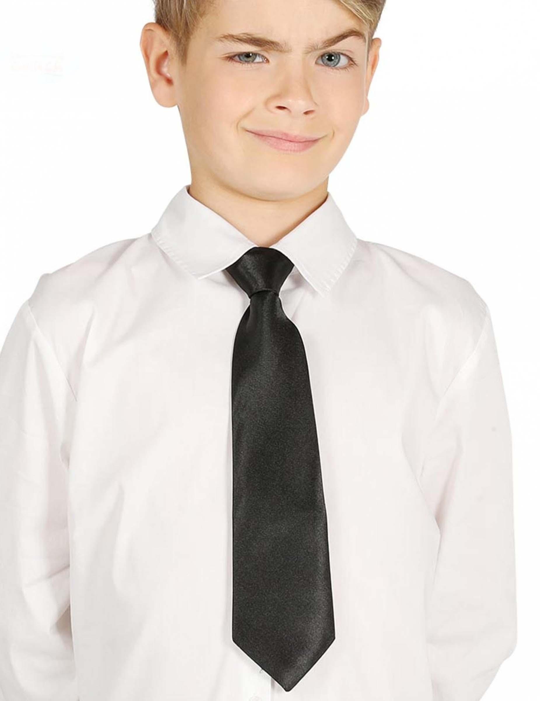 Krawatte für Kinder schwarz 30 cm , günstige Faschings