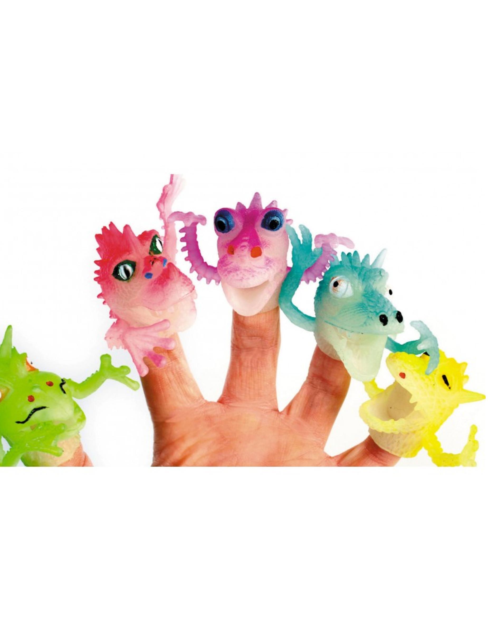 1 Drachen-Fingerpuppe Spielfigur für Kinder bunt 4cm