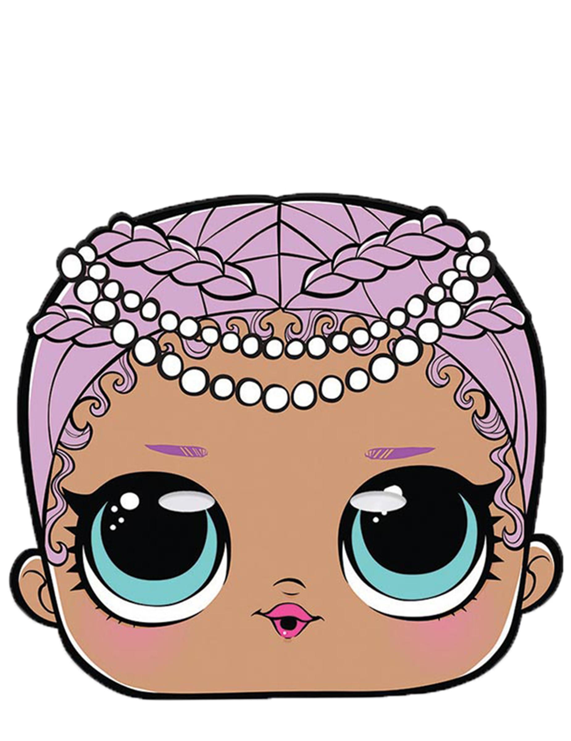 Lol Surprise Pappmaske Merbaby Für Mädchen Bunt