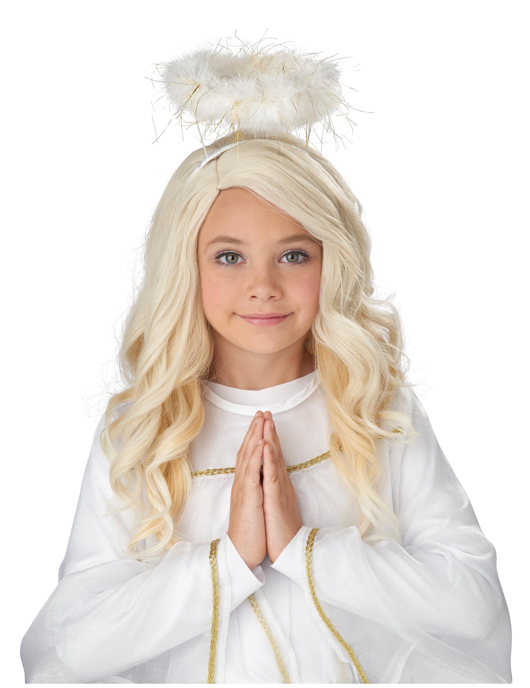 Perucke Fur Madchen Engel Blond Gunstige Faschings Accessoires