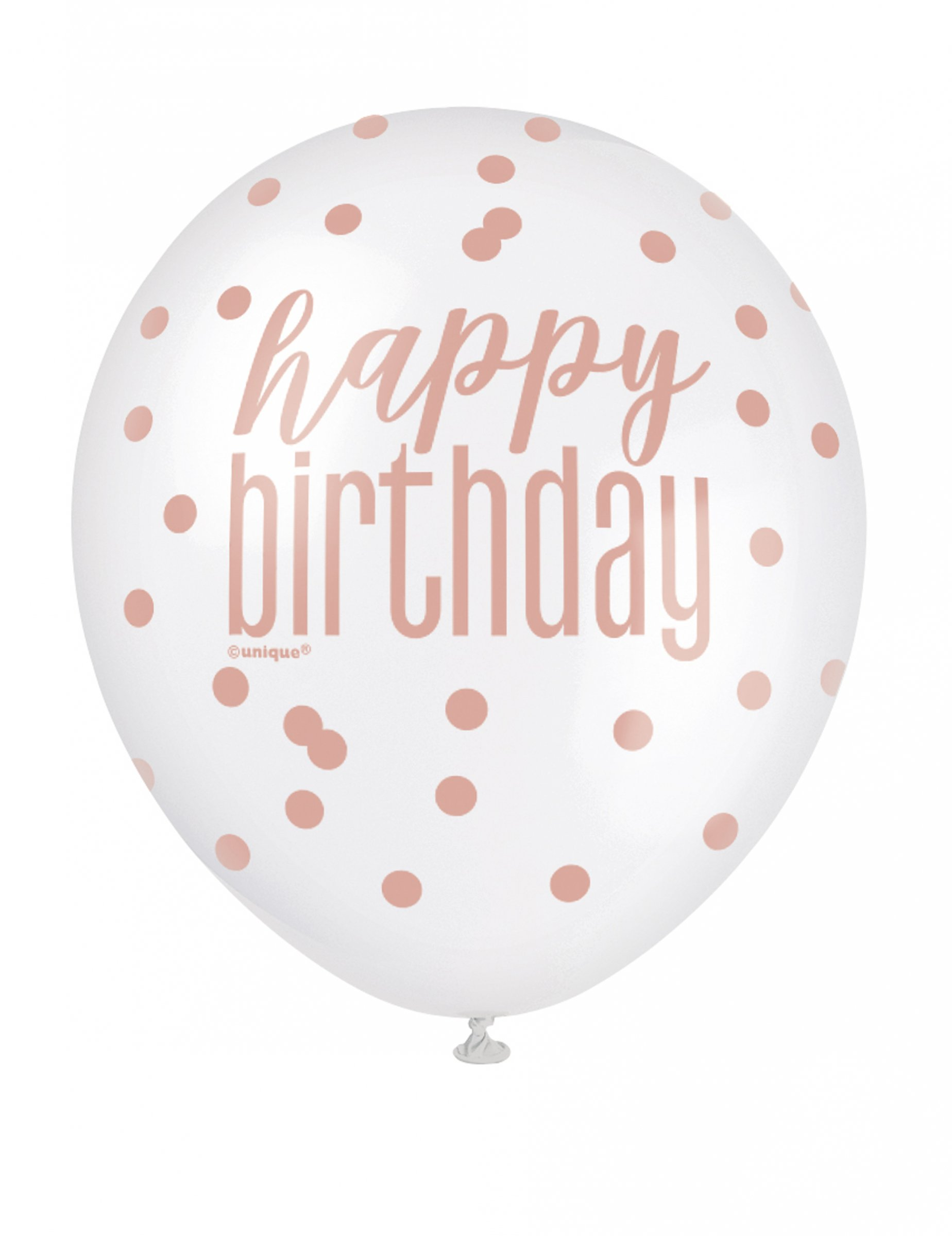 13+ Geburtstag Ballon Luftballon 8 Stück roségold weiß 8 cm Kollektion
