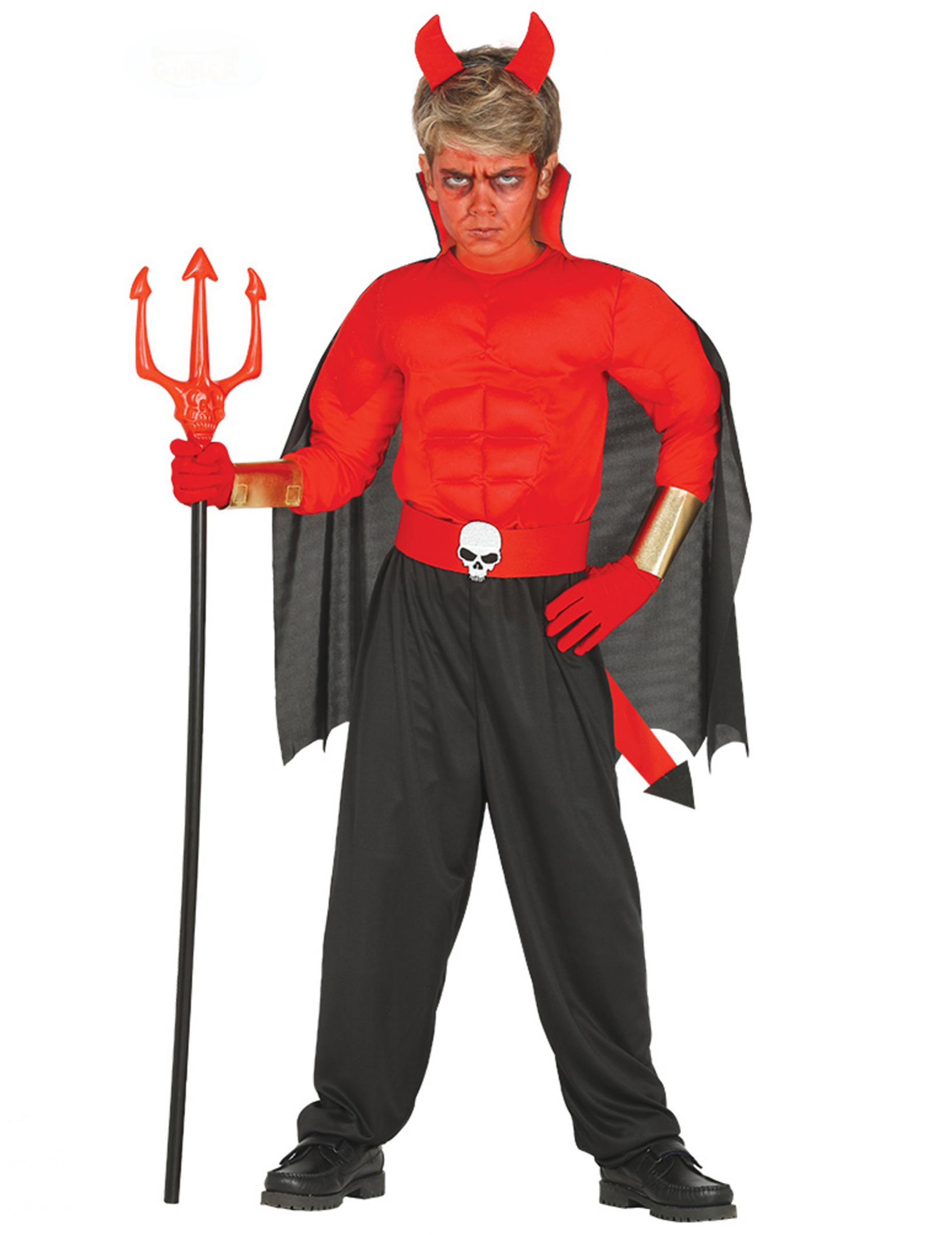 Halloween Kostume Jungs.Muskuloses Teufel Kostum Fur Jungen Halloween Kostum Rot Schwarz Gunstige Faschings Kostume Bei Karneval Megastore
