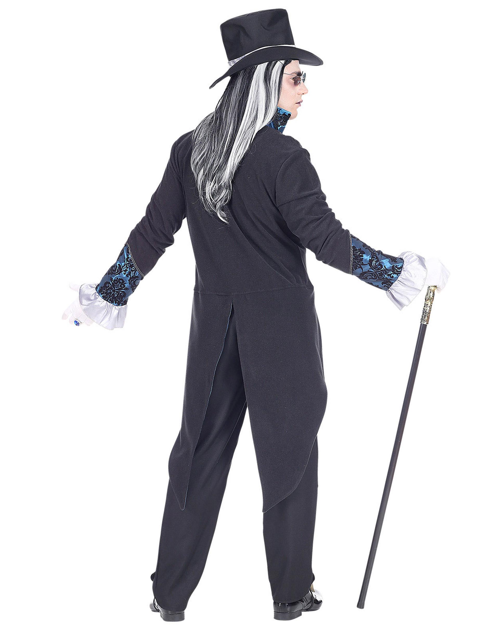 Viktorianisches Vampir Kostüm für Herren Halloweenkostüm blau