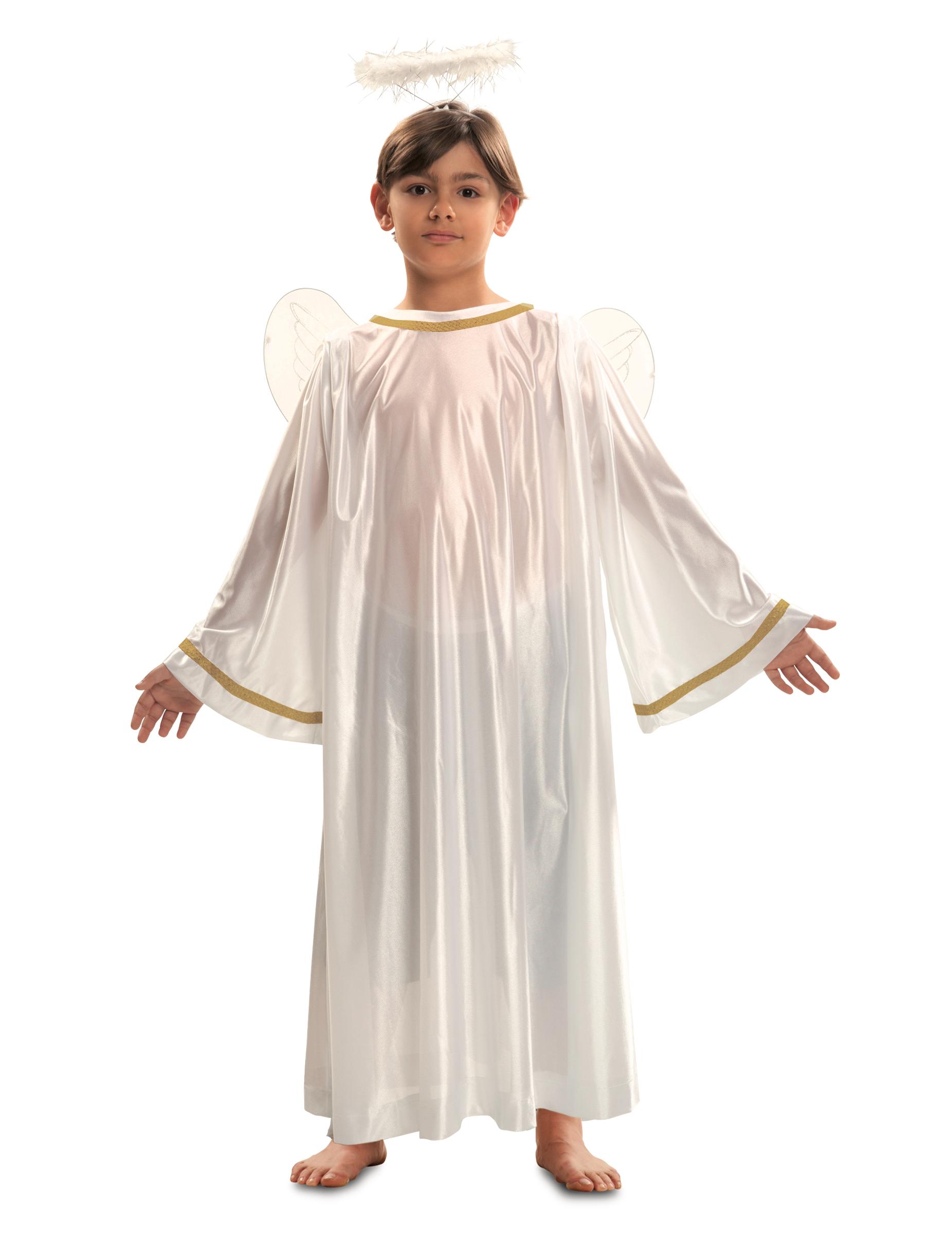 Engel Kostum Fur Kinder Krippenspiel Kostum Weiss Goldfarben