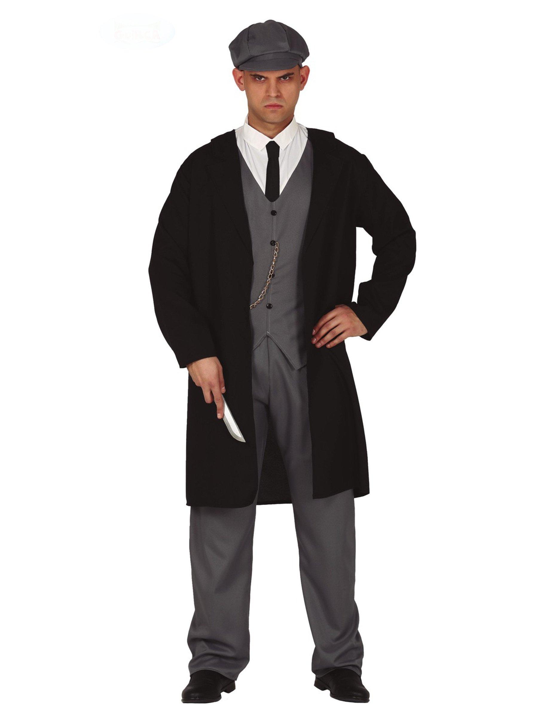 Gangster Kostüm 20er Jahre Kostüm für Herren schwarz grau