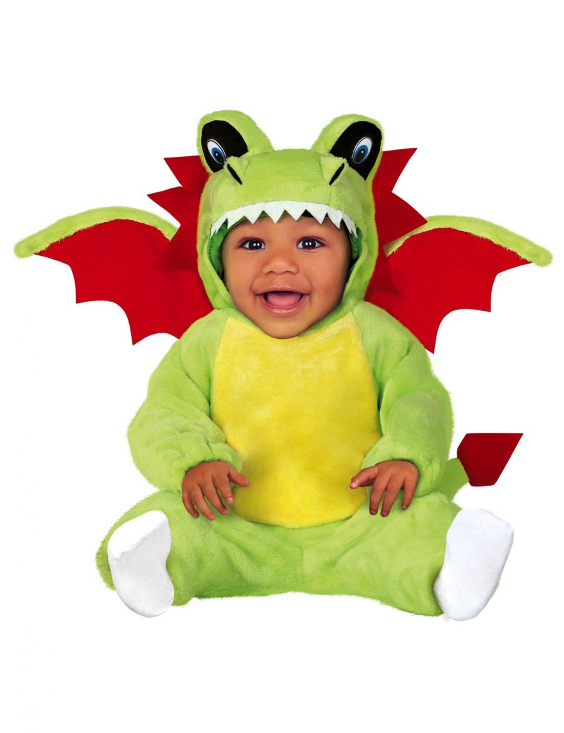 Drachen Kostum Baby Kostum Kleinkinder Kostum Anzug Gruun Rot
