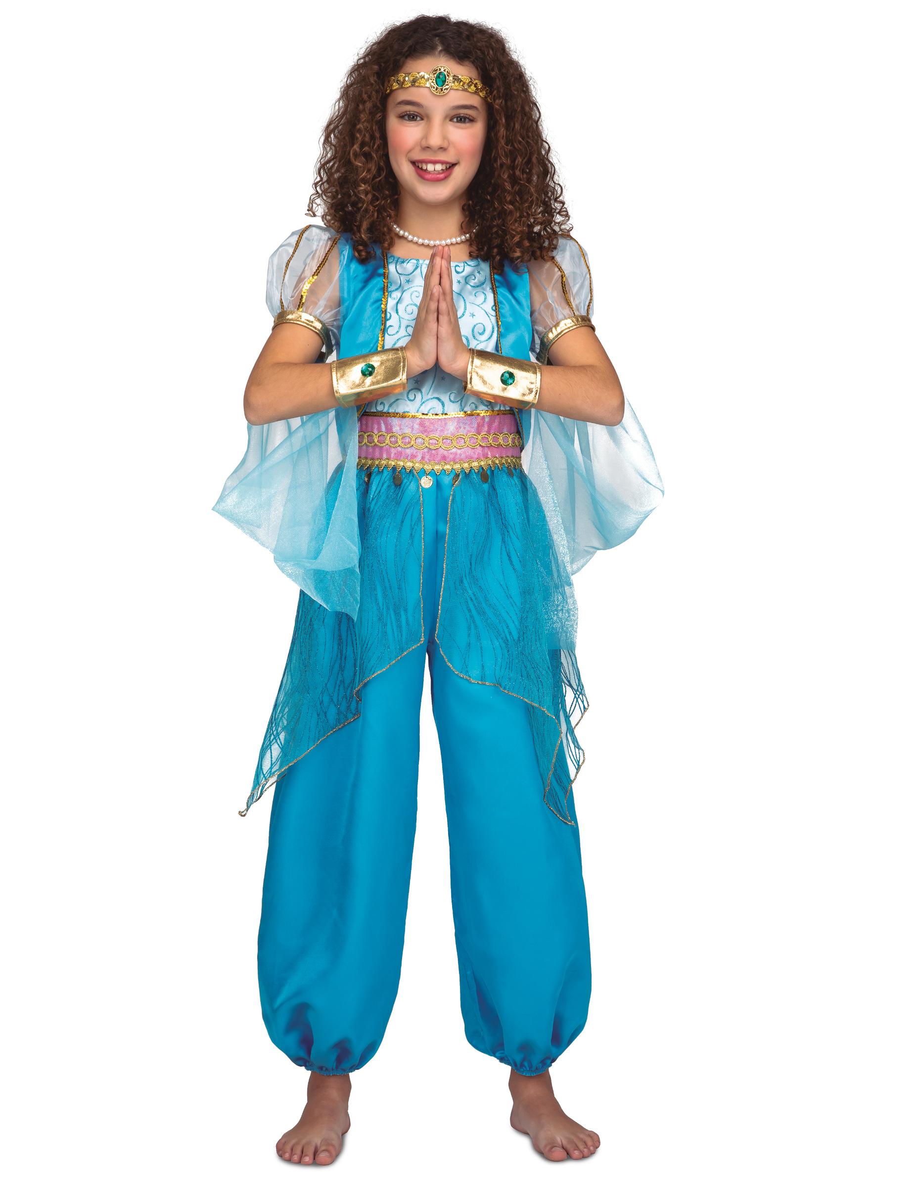 1001 Nacht Kostum Fur Madchen Kinder Bauchtanzerin Kostum Turkis