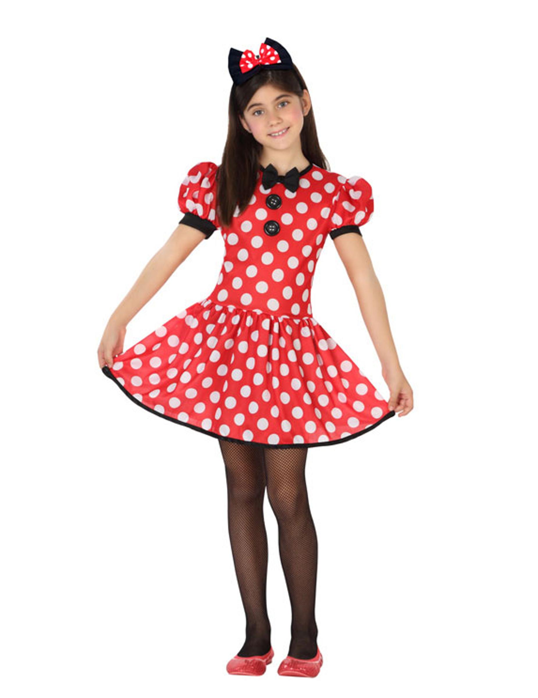 Maus Kostum Fur Madchen Punktchen Kleid Rot Weiss Gunstige Faschings Kostume Bei Karneval Megastore