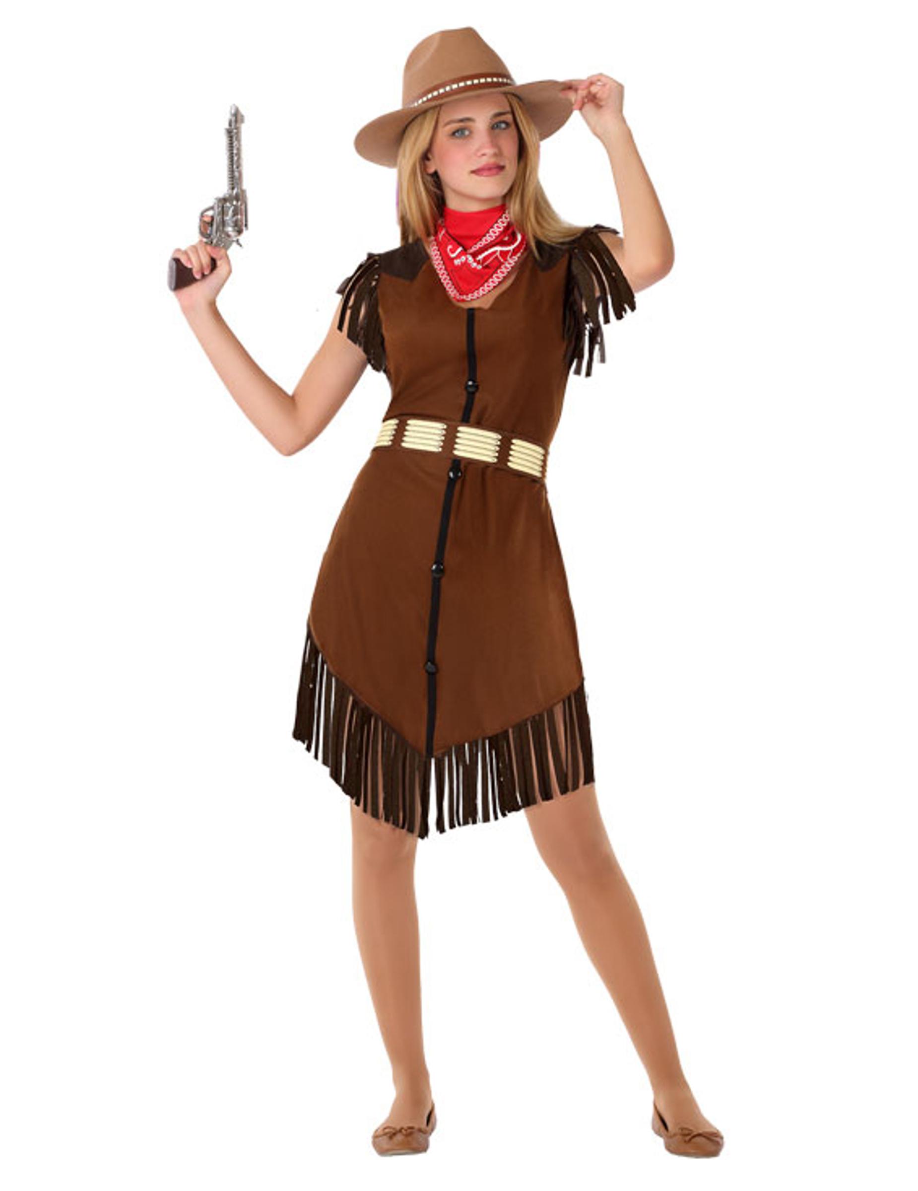 cowgirl-kostüm für jugendliche teenager-kostüm braun