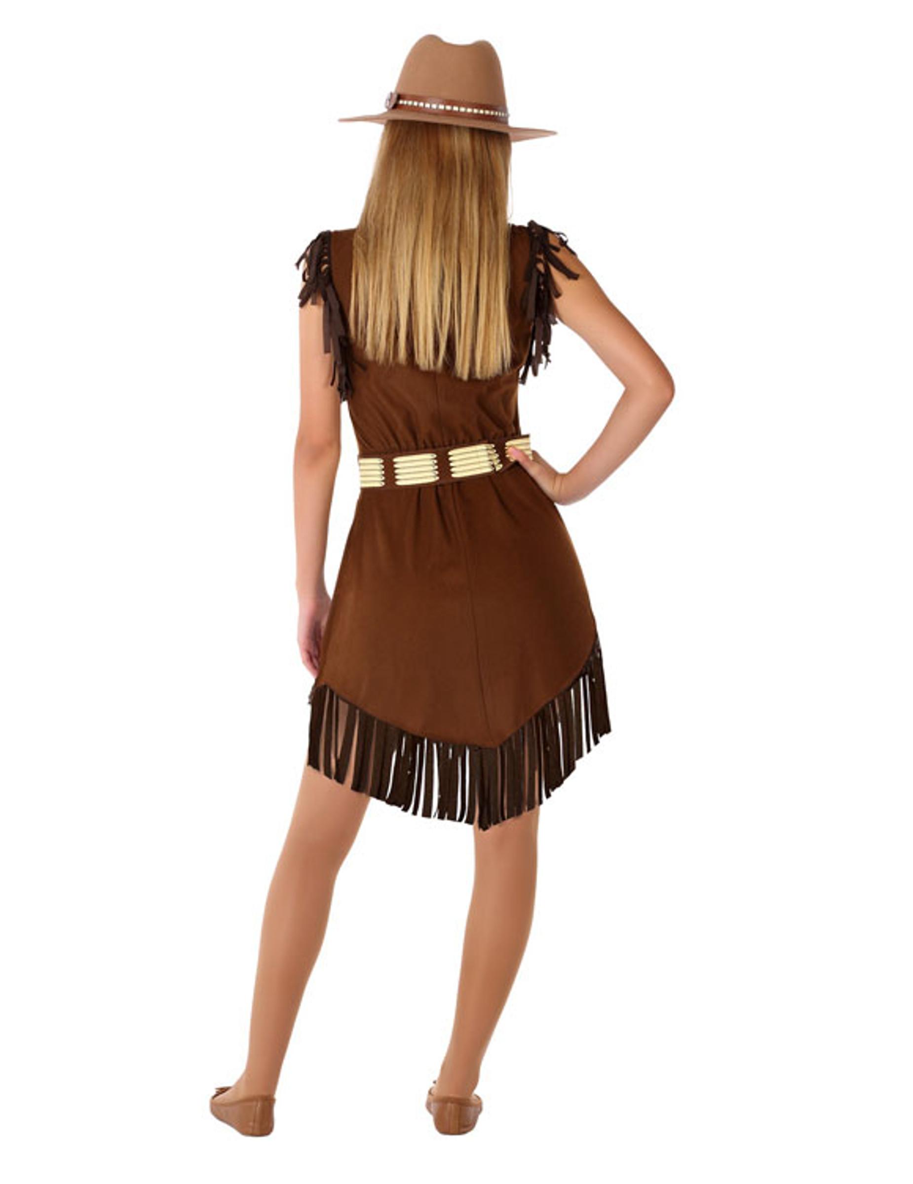 Cowgirl-Kostüm für Jugendliche Teenager-Kostüm braun ...