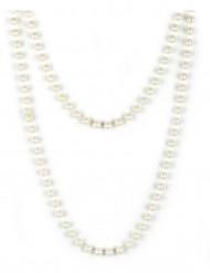 Perlenkette Kostümzubehör perlmutt 180cm