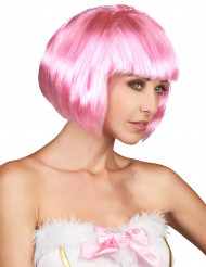 Bob Perücke Karnevalsperücke rosa