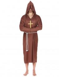 Mönch Kostüm Priester Herrenkostüm braun