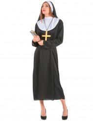 Nonne Damenkostüm Schwester schwarz-weiss