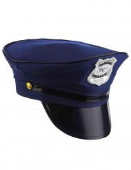 Polizisten Hut Kostümaccessoire dunkelblau-silber