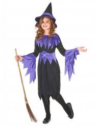 Magische Hexe Kinderkostüm Märchen schwarz-lila