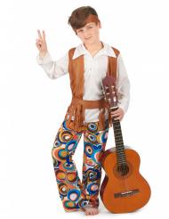 Hippie Kinderkostüm braun-bunt