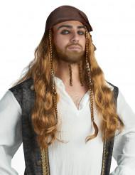 Seeräuber Perücke Pirat Kostüm-Zubehör braun