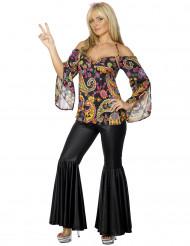 Flowerpower Girl Damenkostüm Hippie bunt