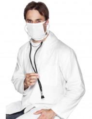 Stethoskop Arzt Kostüm-Zubehör schwarz-silber