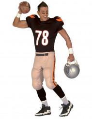 Football Kostüm schwarz-orange-weiss