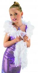 Federboa für Kinder weiss mit silbernen Akzenten
