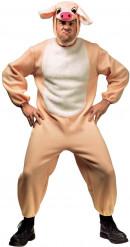Schwein Karneval-Kostüm creme-weiss