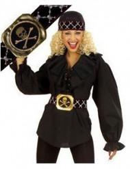 Piratengürtel schwarz-gold