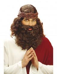 Propheten-Perücke mit Bart braun