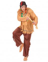 Indianer Kostüm Stammeshäuptling braun