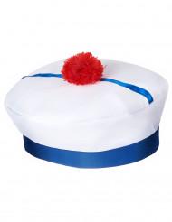 Matrosenmütze Seefahrer-Mütze weiss-blau-rot