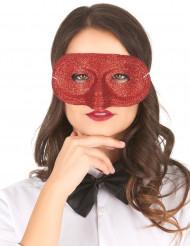 Halbmaske Glitzermaske für Fasching einfarbig