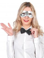 Halbmaske Faschingsmaske metallic