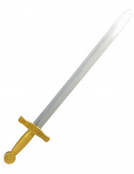 Kreuzritter-Schwert Kostüm-Schwert silber-gold