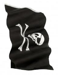 Piratenflagge Totenkopf Party-Deko schwarz-weiss 150x90cm