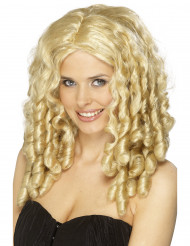 Filmstar Perücke lockig blond
