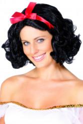 Märchen Perücke mit Haarband schwarz-rot