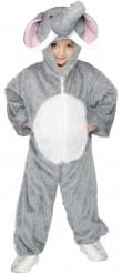 Elefant Kinderkostüm grau-weiss